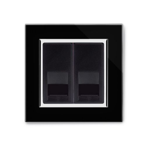 RetroTouch BT Master/BT Slave Socket Black Glass CT 04418